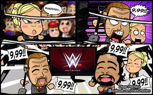 Lana, Rusev and Triple H - WWE Chibi for 9,99 by kapaeme