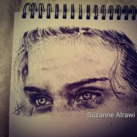 Progress shot biro sketch by SuzanneAl-Rawi