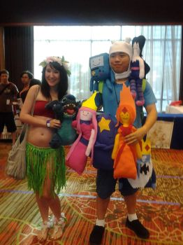 Lilo and Stitch with Fin from Adventure Time by snowgirlyuki