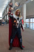 Thor in the Hall by Stormfalcon