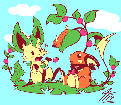 RD - Berry Picnic by TamarinFrog