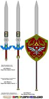 Link Albane's Super Weapon Set - 2 by AirSharkSquad