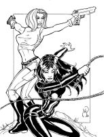 Danger Girl Commission by MichaelPowellArt