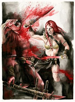 Red Sonja VS Red Demon - For Sale by dimitriskoskinas