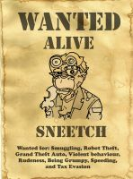 Sneetch Wanted Poster by LarsLasse