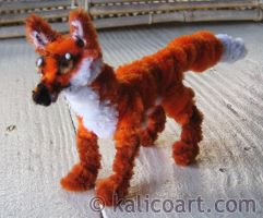 Fox -- Pipe Cleaners by kalicothekat