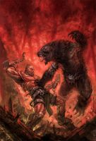meatman vs. warebear by michalivan