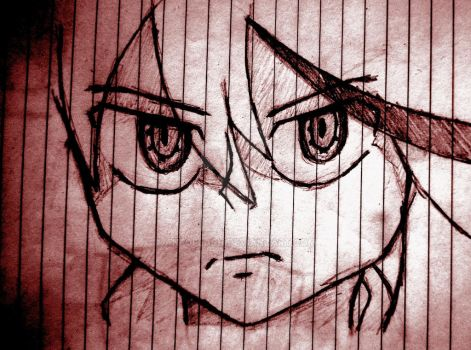 Ryuko Matoi - Kill La Kill drawing, edited by AnfoFlash