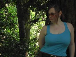 Lara Croft cosplay - the woods by arseniccandy-cosplay