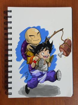 Day 142 Goku and Krillin by TomatoStyles