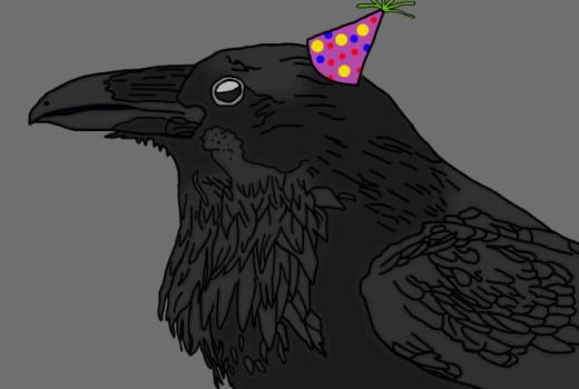 My Profile Picture With A Party Hat! by EgotisticalRaven