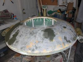 Rooftop Flying Saucer Project 03 by sicklilmonky