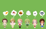 APH - card sticker set 1 by exwhy