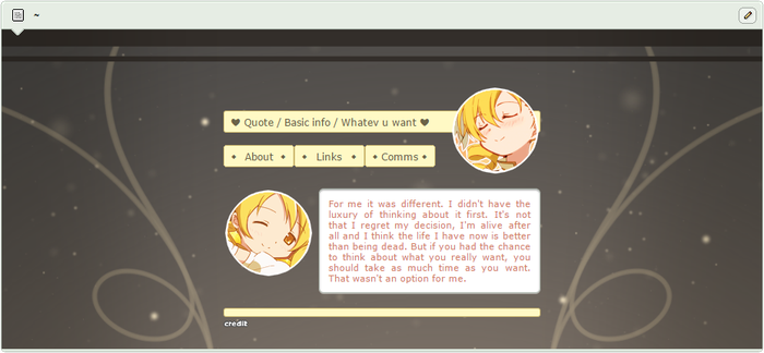 F2U : Mami Tomoe Theme by Milkyboos