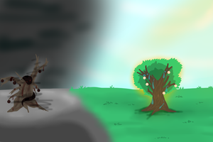 The Moontree and the Bloodtree by mariofrog4