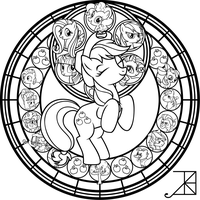 SG: Applejack: Remastered: coloring page by Akili-Amethyst