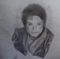 Michael Jackson Sketch by FillyDrawSilly