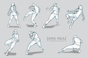 Sketchdump January 2016 [Dynamic poses] by DamaiMikaz