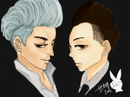 GD TOP- bunny boys by petitheart
