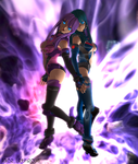 Riku and Alexis - Back to Back - Second Life by Jace-Lethecus
