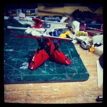 Gundam Kitbash F91 - Shoes Done by s00nk1a