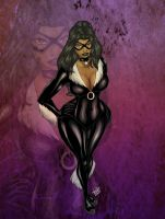 Luscious Black Cat Commission by Zelmarr