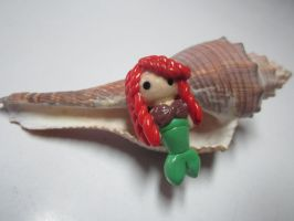 Polymer Clay Ariel (The Little Mermaid) by MaxxeneStacey