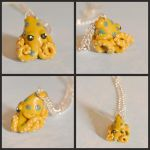 Blue-ringed Octopus Necklace Commission by GoldenDaffadowndilly