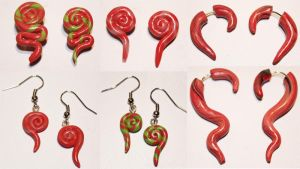 .: Christmas-Themed Earrings :. by tanya1