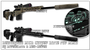 [MMD] Remington MSR sniper rifle (PMX Download) by Riveda1972