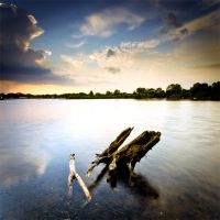 .: Lakeside Evening II :. by Dave-Ellis