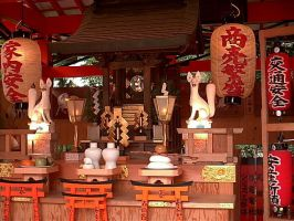 Kitsune Shrine by DavidinJapan