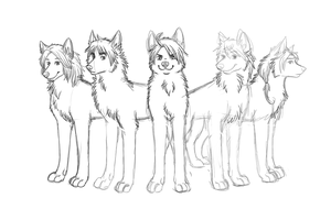 The first version of Wolf!Allies piccy by Hooshakosh