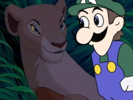 Weegee and Nala??? O.O by SilverKazeNinja