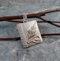 Solitary Leaf Pendant by DeMoyJewelryDesigns