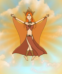 Skylord Solstice the Sun by The-Serene-Mage