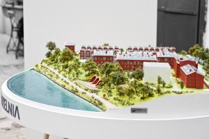 architectural model of a housing estate by Modelarnia