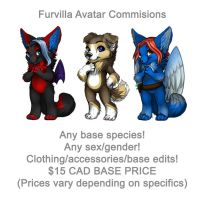 Furvilla - Avatar Commissions (Painties) by Temrin