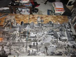 Downed City 12x4 ft collage in progress 3 by PancreasSupervisor