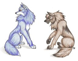 Two Wolves that Don't Mix by CaptainMorwen