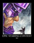 Epic Staring Contest by RavenT2