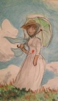 Woman with a Parasol -- Monet Reproduction by themollyb