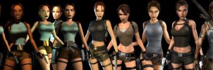 Lara Croft evolution by SaigouCZ