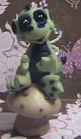 polymer clay dragon ooak zappa by crazylittlecritters