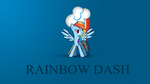 Minimalist Wallpaper - Rainbow Dash by Zoekleinman