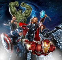 avengers movie poster by Seanbean80