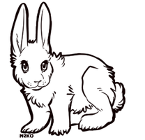 Bunny free lineart by CelesticAdopts