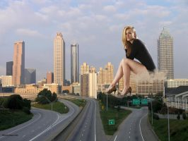 Giantess in the city 4 by lala222221
