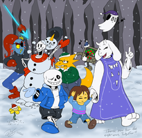 Holiday Snow and Knock-Knock Jokes (Undertale) by TonyK-Lyne