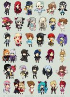 TM Chibi Commissions Set 4 by chuwenjie